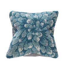 """Liora Manne Frontporch Mum Indoor/Outdoor Pillow Aqua 18"""" Square"""