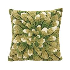 "Liora Manne Frontporch Mum Indoor/Outdoor Pillow Green 18"" Square"