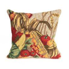 "Liora Manne Frontporch Basket Indoor/Outdoor Pillow Natural 18"" Square"