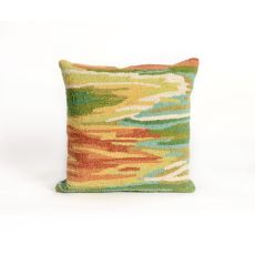 """Liora Manne Frontporch Watercolor Indoor/Outdoor Pillow - Green, 18"""" Square"""