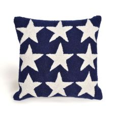 "Liora Manne Frontporch Stars Indoor/Outdoor Pillow - Blue, 18"" Square"