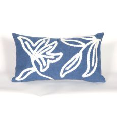 "Liora Manne Visions I Windsor Indoor/Outdoor Pillow - Blue, 12"" By 20"""
