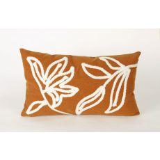 "Liora Manne Visions I Windsor Indoor/Outdoor Pillow - Orange, 12"" By 20"""