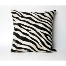 "Liora Manne Visions I Zebra Indoor/Outdoor Pillow - Black, 20"" Square"