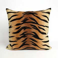 "Liora Manne Visions I Tiger Indoor/Outdoor Pillow Brown 20"" Square"