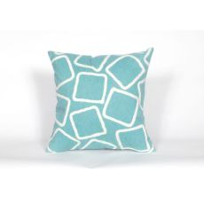 "Liora Manne Visions I Squares Indoor/Outdoor Pillow - Blue, 20"" Square"