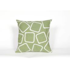 "Liora Manne Visions I Squares Indoor/Outdoor Pillow - Green, 20"" Square"