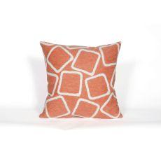 """Liora Manne Visions I Squares Indoor/Outdoor Pillow - Orange, 20"""" Square"""