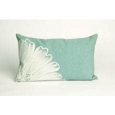 "Liora Manne Visions Ii Antique Medallion Indoor/Outdoor Pillow - Blue, 12"" By 20"""