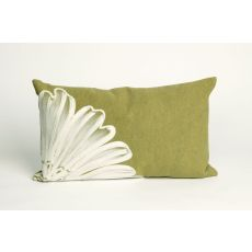"Liora Manne Visions Ii Antique Medallion Indoor/Outdoor Pillow - Sage, 12"" By 20"""