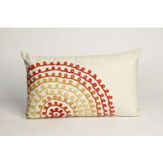 "Liora Manne Visions Ii Ombre Threads Indoor/Outdoor Pillow - Ivory, 12"" By 20"""