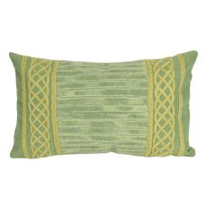 "Liora Manne Visions Ii Celtic Stripe Indoor/Outdoor Pillow - Sage, 12"" By 20"""