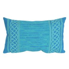 "Liora Manne Visions Ii Celtic Stripe Indoor/Outdoor Pillow - Green, 12"" By 20"""