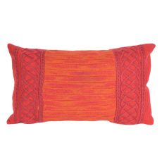 "Liora Manne Visions Ii Celtic Stripe Indoor/Outdoor Pillow - Red, 12"" By 20"""