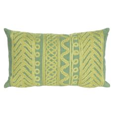 "Liora Manne Visions Ii Celtic Grove Indoor/Outdoor Pillow - Sage, 12"" By 20"""