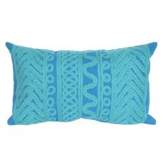 "Liora Manne Visions Ii Celtic Grove Indoor/Outdoor Pillow - Green, 12"" By 20"""
