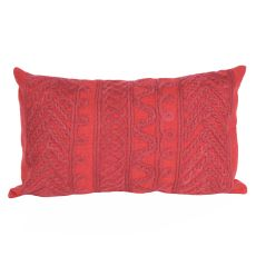"Liora Manne Visions Ii Celtic Grove Indoor/Outdoor Pillow - Red, 12"" By 20"""