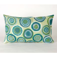 "Liora Manne Visions Ii Puddle Dot Indoor/Outdoor Pillow - Green, 12"" By 20"""