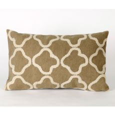 "Liora Manne Visions Ii Crochet Tile Indoor/Outdoor Pillow - Camel, 12"" By 20"""