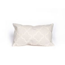 "Liora Manne Visions Ii Crochet Tile Indoor/Outdoor Pillow - Ivory, 12"" By 20"""