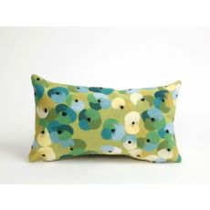 "Liora Manne Visions Ii Pansy Indoor/Outdoor Pillow - Green, 12"" By 20"""