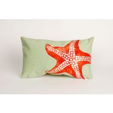 "Liora Manne Visions II Starfish Indoor/Outdoor Pillow - Orange, 12"" by 20"""