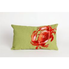 "Liora Manne Visions II Crab Indoor/Outdoor Pillow - Red, 12"" by 20"""