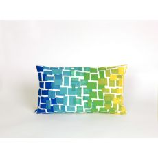 "Liora Manne Visions Ii Ombre Tile Indoor/Outdoor Pillow - Blue, 12"" By 20"""
