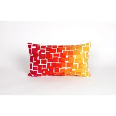 "Liora Manne Visions Ii Ombre Tile Indoor/Outdoor Pillow - Red, 12"" By 20"""