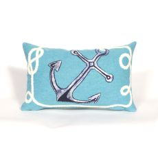 "Liora Manne Visions Ii Marina Indoor/Outdoor Pillow - Blue, 12"" By 20"""