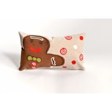 "Liora Manne Visions Ii Ginger Boy Indoor/Outdoor Pillow - Brown, 12"" By 20"""
