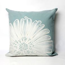 "Liora Manne Visions Ii Antique Medallion Indoor/Outdoor Pillow - Blue, 20"" Square"