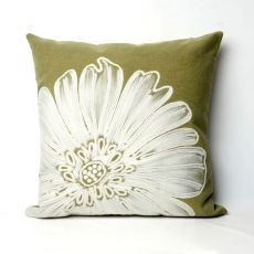 "Liora Manne Visions Ii Antique Medallion Indoor/Outdoor Pillow - Sage, 20"" Square"