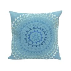 "Liora Manne Visions Ii Ombre Threads Indoor/Outdoor Pillow - Blue, 20"" Square"