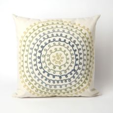 "Liora Manne Visions Ii Ombre Threads Indoor/Outdoor Pillow - Ivory, 20"" Square"