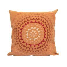 "Liora Manne Visions Ii Ombre Threads Indoor/Outdoor Pillow - Orange, 20"" Square"