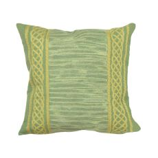 "Liora Manne Visions Ii Celtic Stripe Indoor/Outdoor Pillow - Sage, 20"" Square"