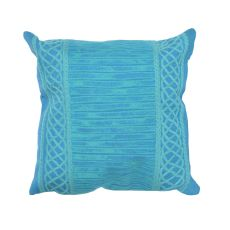 "Liora Manne Visions Ii Celtic Stripe Indoor/Outdoor Pillow - Green, 20"" Square"