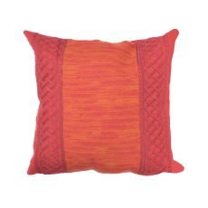 "Liora Manne Visions Ii Celtic Stripe Indoor/Outdoor Pillow - Red, 20"" Square"