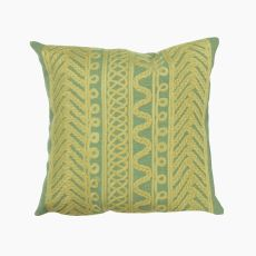 "Liora Manne Visions Ii Celtic Grove Indoor/Outdoor Pillow - Sage, 20"" Square"