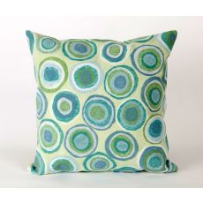 "Liora Manne Visions Ii Puddle Dot Indoor/Outdoor Pillow - Green, 20"" Square"