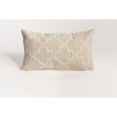 "Liora Manne Visions Ii Crochet Tile Indoor/Outdoor Pillow - Ivory, 20"" Square"