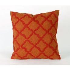 "Liora Manne Visions Ii Crochet Tile Indoor/Outdoor Pillow - Orange, 20"" Square"