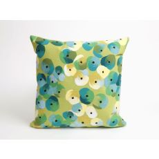 "Liora Manne Visions Ii Pansy Indoor/Outdoor Pillow - Green, 20"" Square"