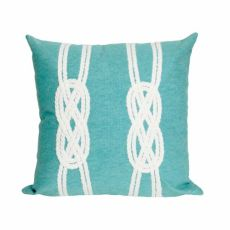 "Liora Manne Visions Ii Double Knot Indoor/Outdoor Pillow Aqua 20"" Square"