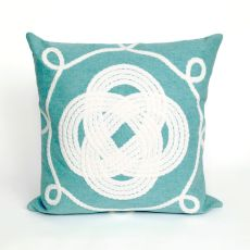 "Liora Manne Visions Ii Ornamental Knot Indoor/Outdoor Pillow - Blue, 20"" Square"