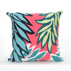 "Liora Manne Visions II Tropic Leaf Indoor/Outdoor Pillow - Pink, 20"" Square"