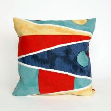 "Liora Manne Visions Ii Flags Indoor/Outdoor Pillow - Navy, 20"" Square"