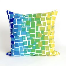 "Liora Manne Visions Ii Ombre Tile Indoor/Outdoor Pillow - Blue, 20"" Square"