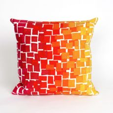 "Liora Manne Visions Ii Ombre Tile Indoor/Outdoor Pillow - Red, 20"" Square"